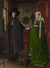 Mr and Mrs Arnolfini and their extra cloth